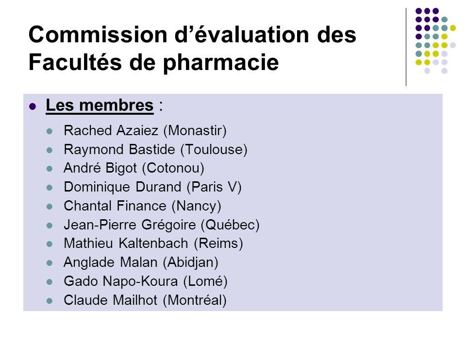 Commission d'évaluation des Facultés de pharmacie