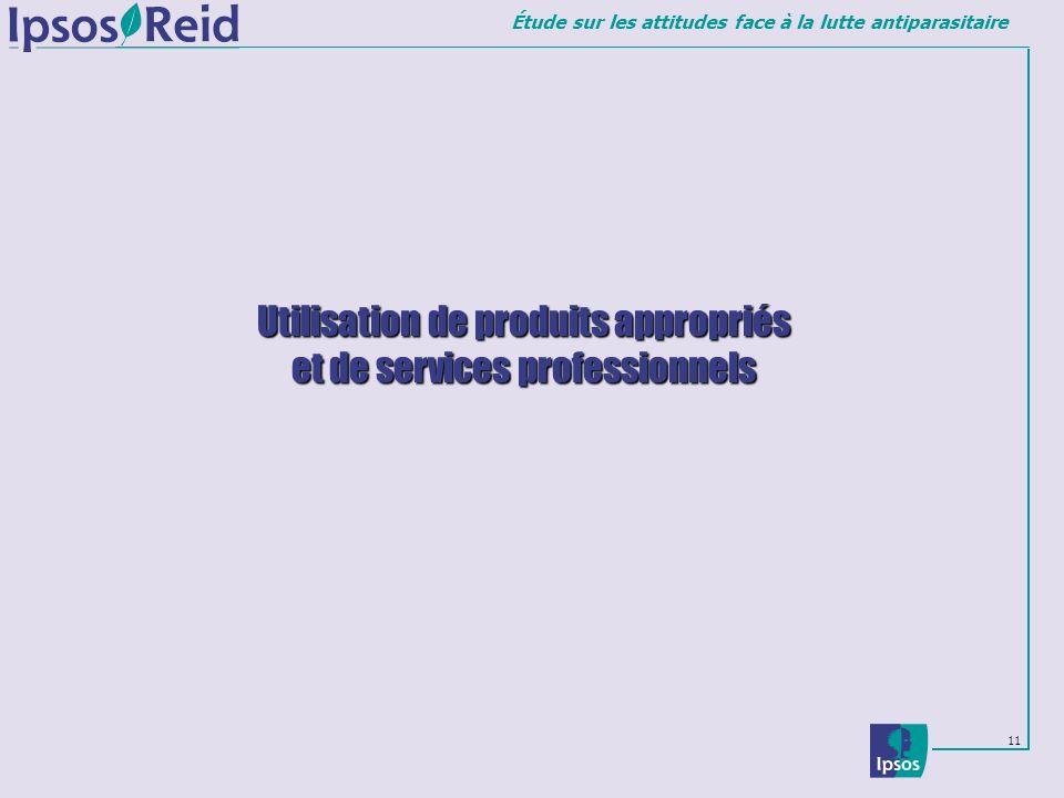 Utilisation de produits appropriés et de services professionnels