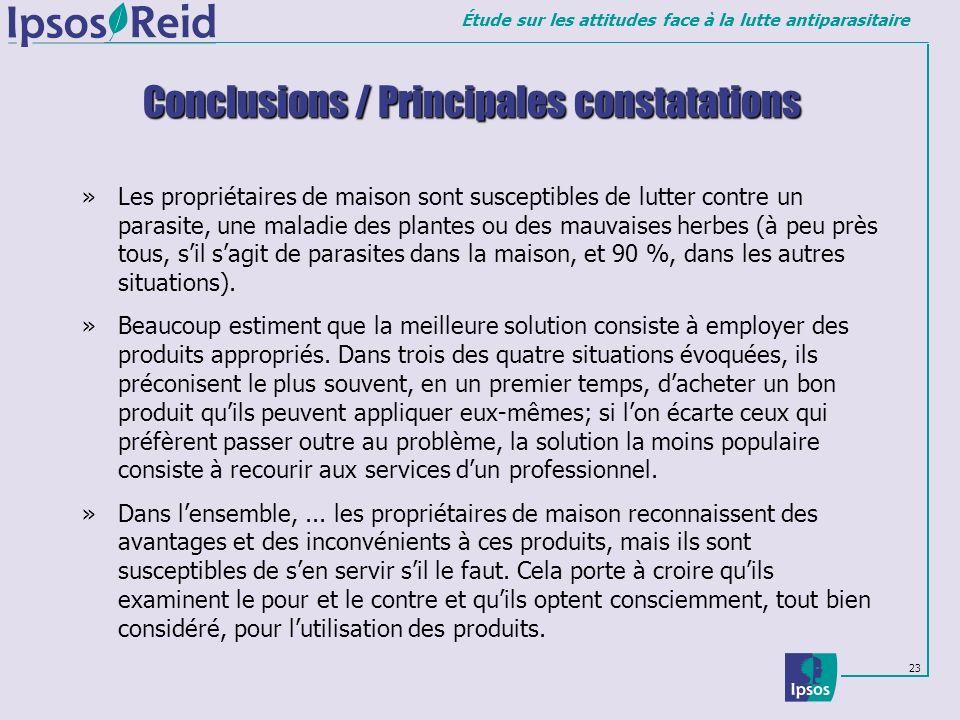 Conclusions / Principales constatations