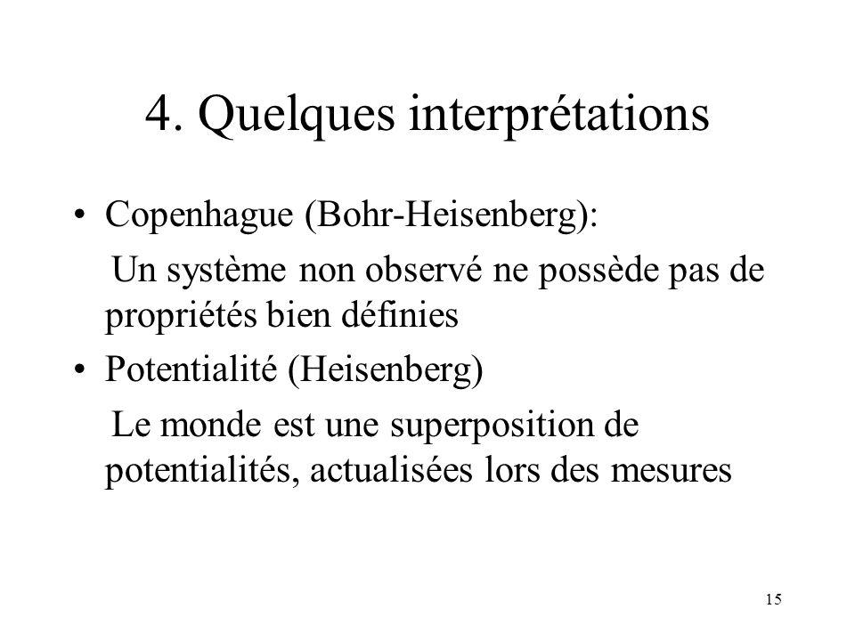 4. Quelques interprétations