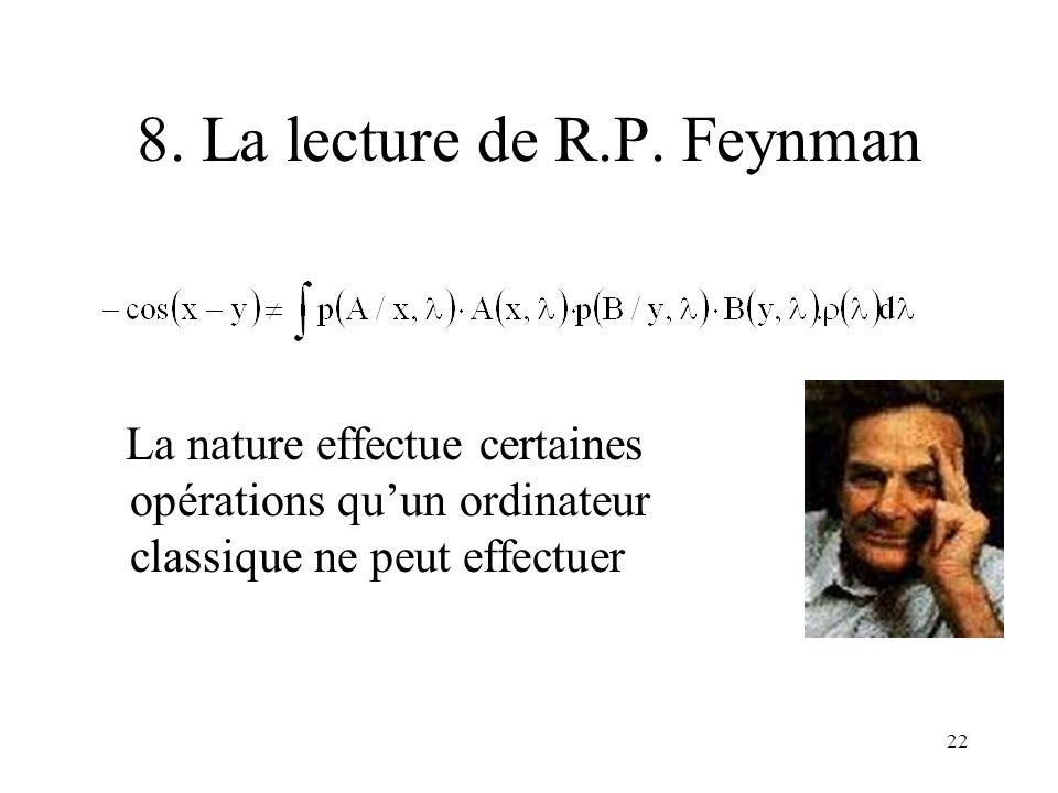 8. La lecture de R.P. Feynman