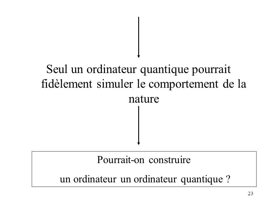 Seul un ordinateur quantique pourrait fidèlement simuler le comportement de la nature