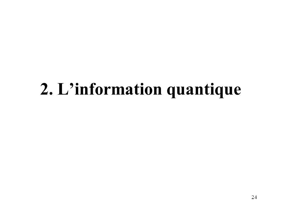 2. L'information quantique
