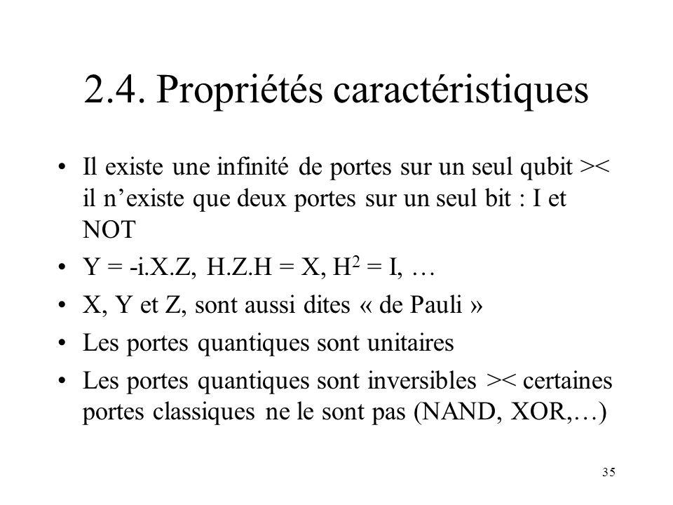 2.4. Propriétés caractéristiques