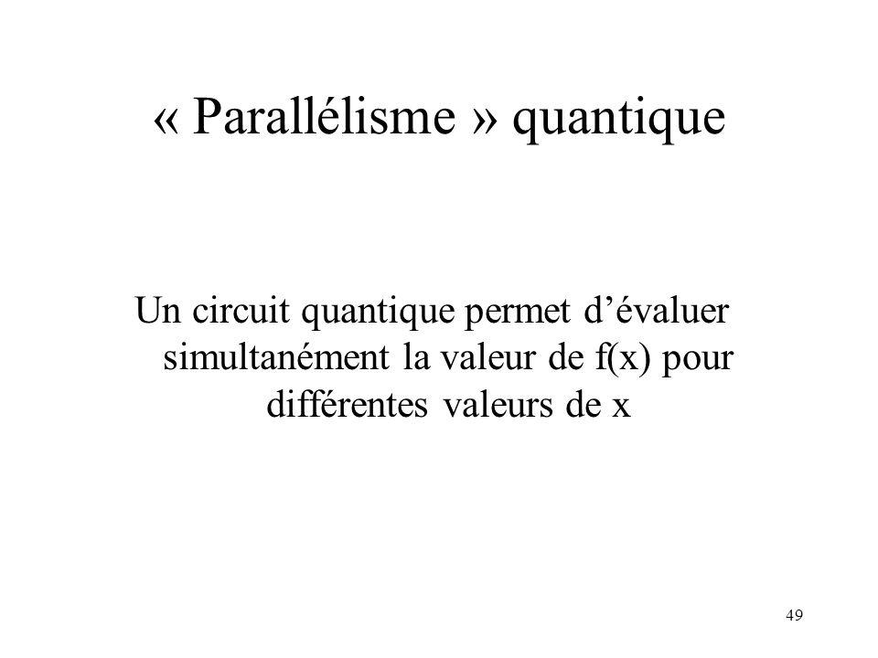 « Parallélisme » quantique