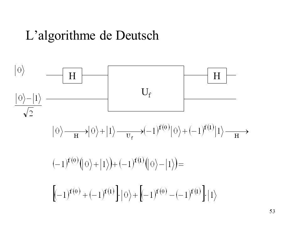 L'algorithme de Deutsch