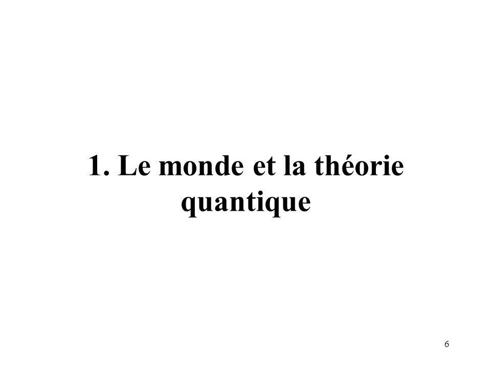 1. Le monde et la théorie quantique