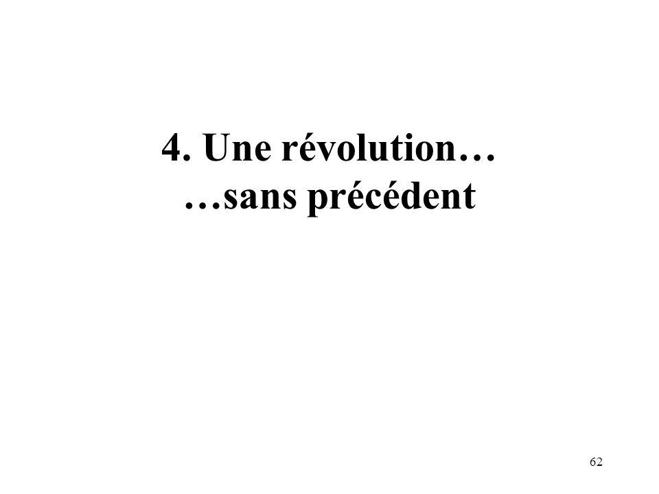4. Une révolution… …sans précédent