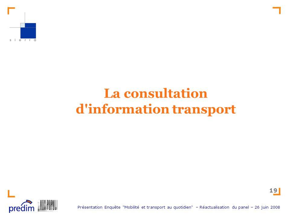 La consultation d information transport