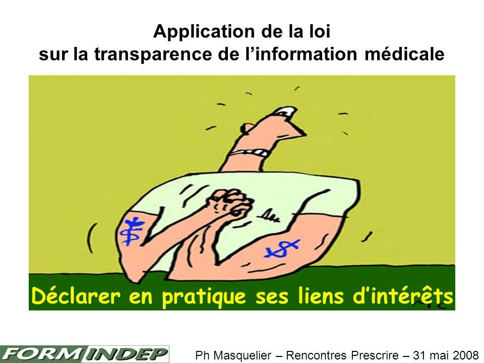 Application de la loi sur la transparence de l'information médicale