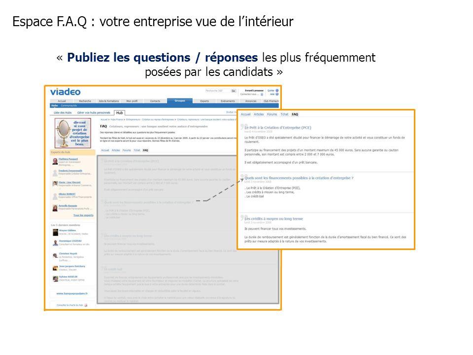 Espace F.A.Q : votre entreprise vue de l'intérieur
