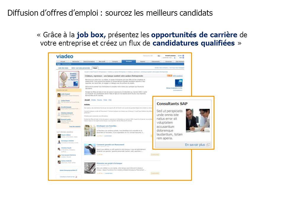 Diffusion d'offres d'emploi : sourcez les meilleurs candidats