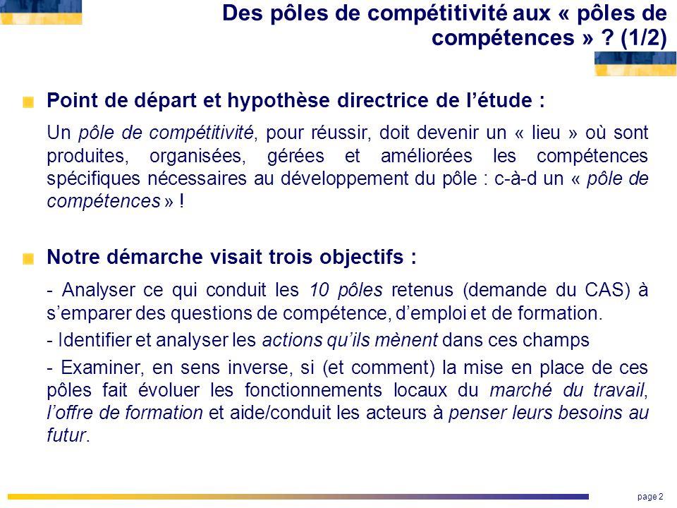Des pôles de compétitivité aux « pôles de compétences » (1/2)
