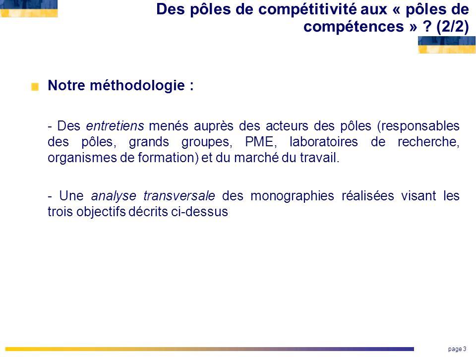 Des pôles de compétitivité aux « pôles de compétences » (2/2)