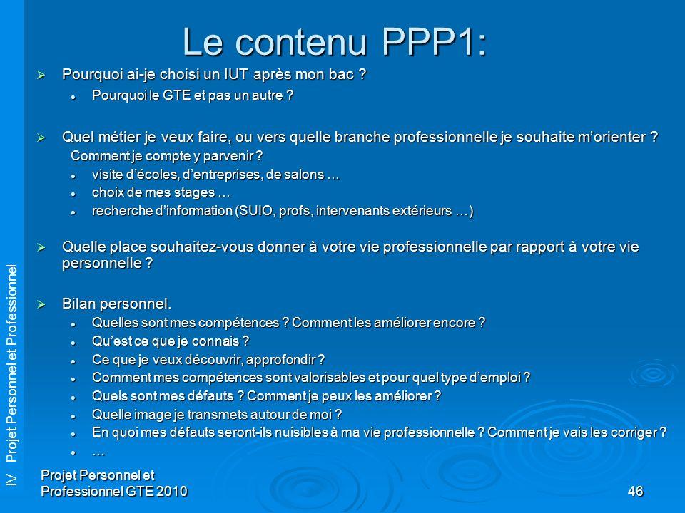 projet personnel et professionnel cours   2h40 coefficient
