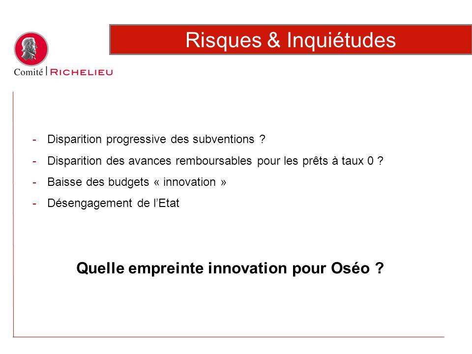 Quelle empreinte innovation pour Oséo