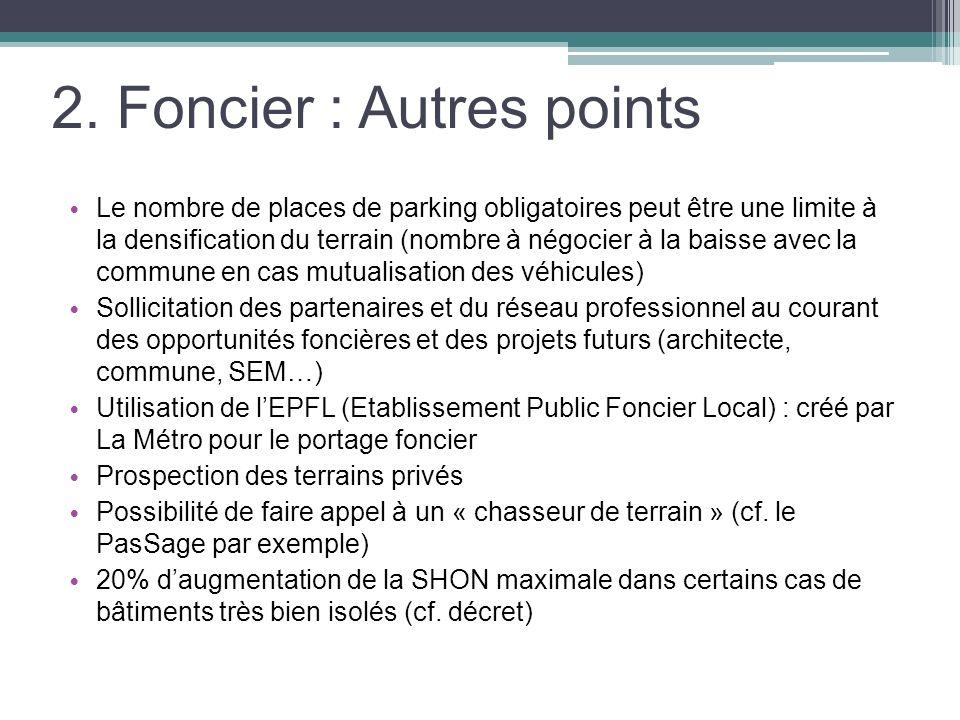 2. Foncier : Autres points