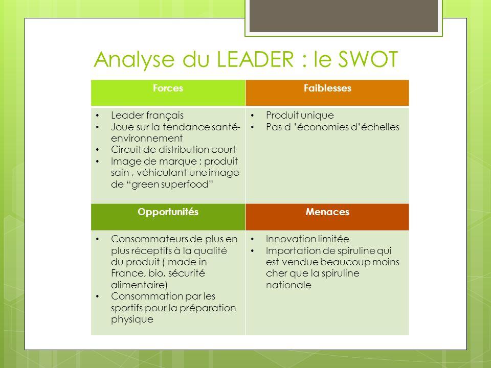 Analyse du LEADER : le SWOT