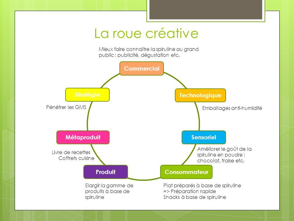 La roue créative Commercial Technologique Sensoriel Consommateur