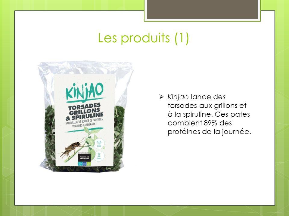 Les produits (1) Kinjao lance des torsades aux grillons et à la spiruline.