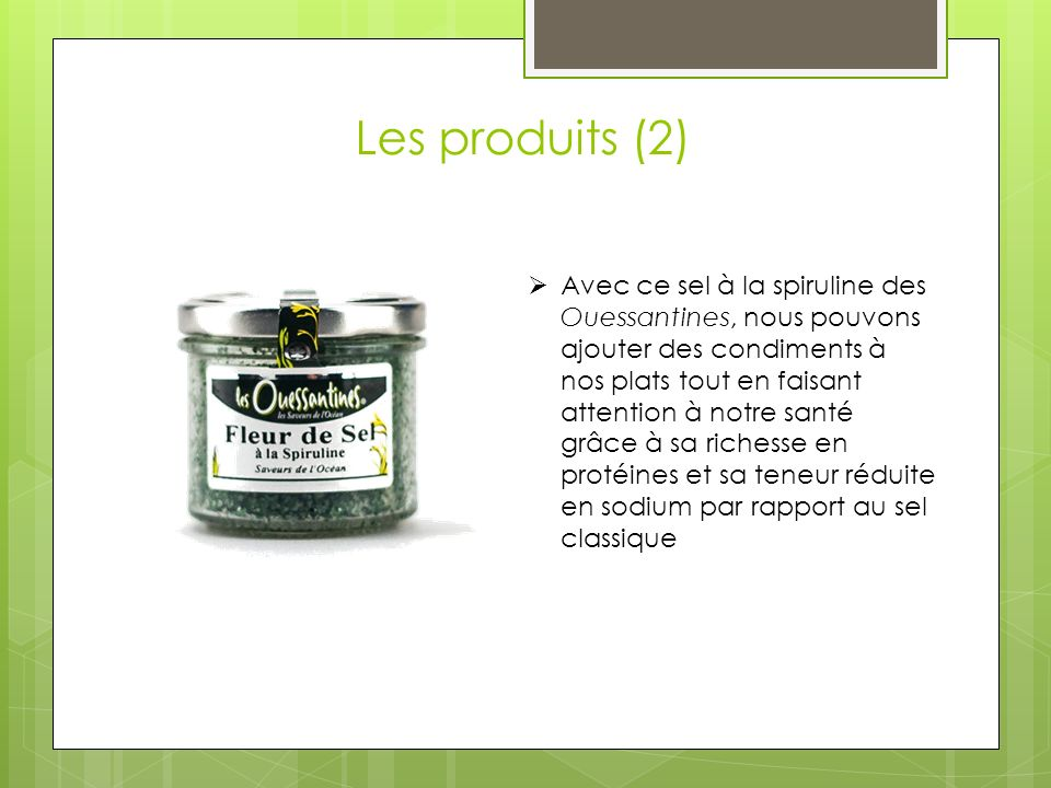 Les produits (2)