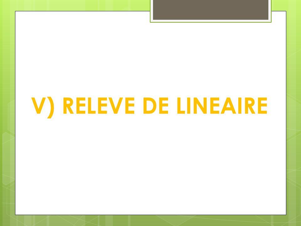 V) RELEVE DE LINEAIRE