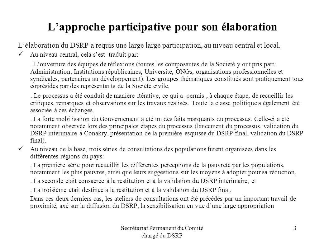 L'approche participative pour son élaboration