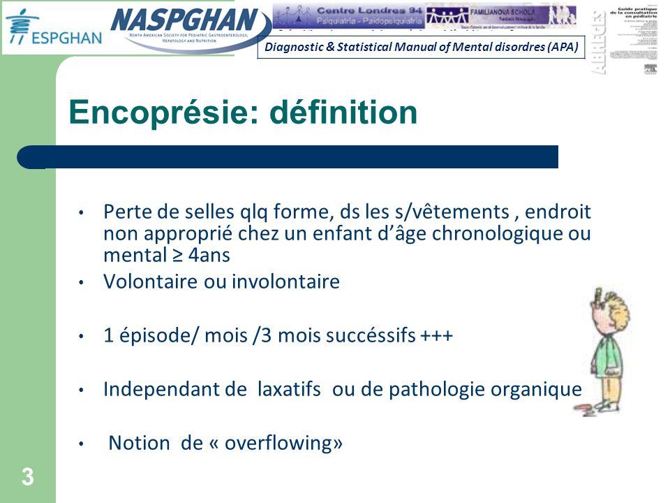 Encoprésie: définition