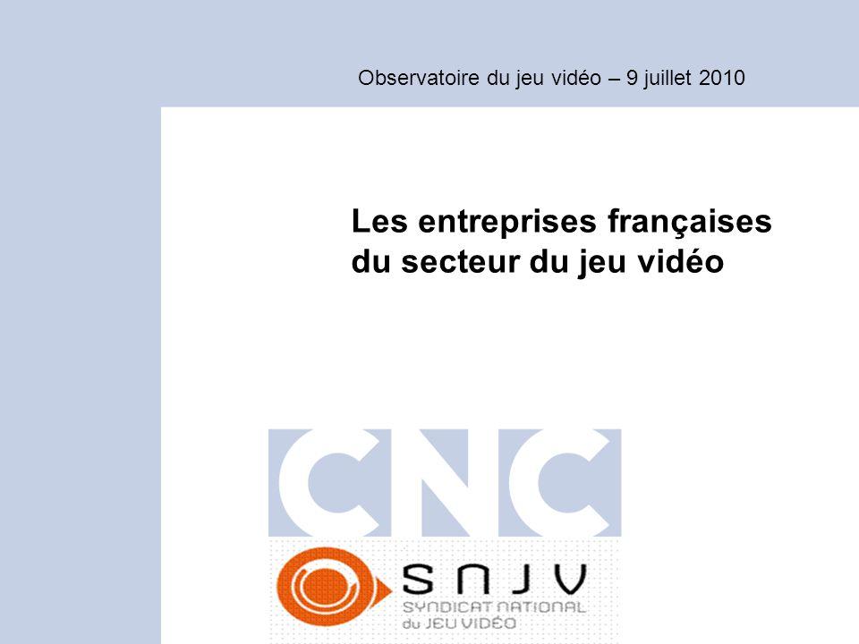 Les entreprises françaises du secteur du jeu vidéo