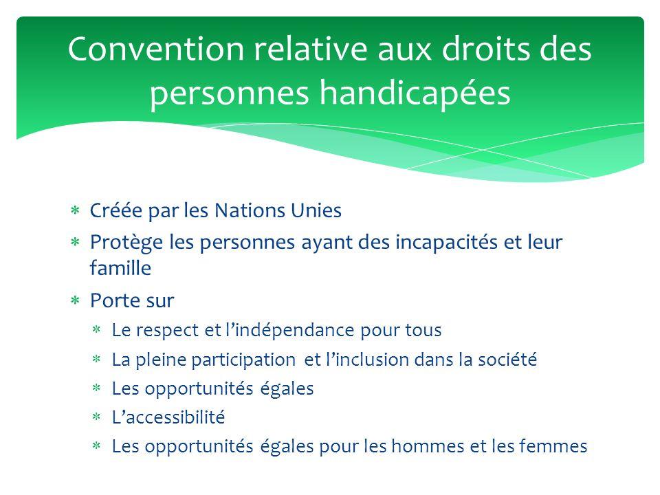 Convention relative aux droits des personnes handicapées