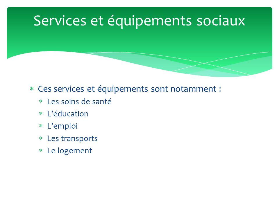 Services et équipements sociaux