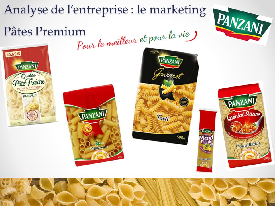 Analyse de l'entreprise : le marketing Pâtes Premium