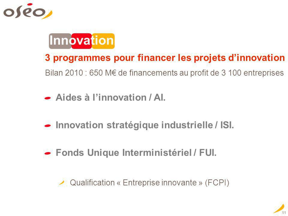 Innovation 3 programmes pour financer les projets d'innovation