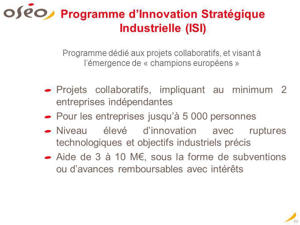 Programme d'Innovation Stratégique Industrielle (ISI)