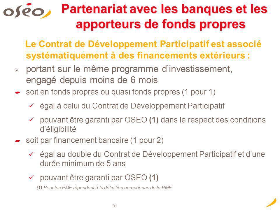 Partenariat avec les banques et les apporteurs de fonds propres