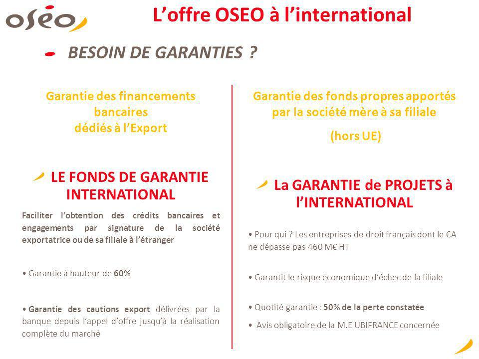 L'offre OSEO à l'international