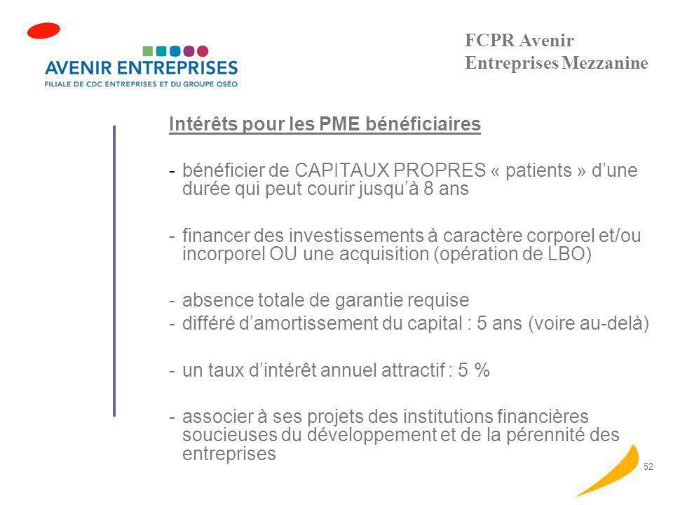 FCPR Avenir Entreprises Mezzanine