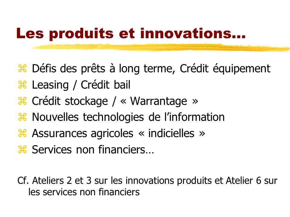 Les produits et innovations…