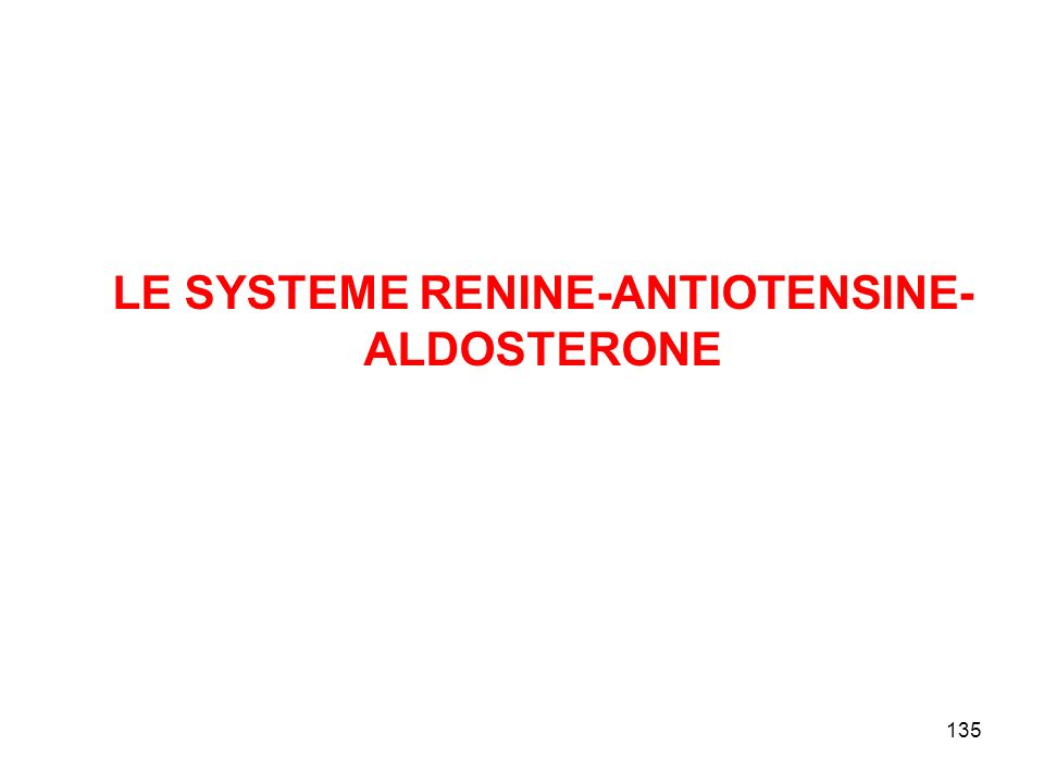LE SYSTEME RENINE-ANTIOTENSINE-