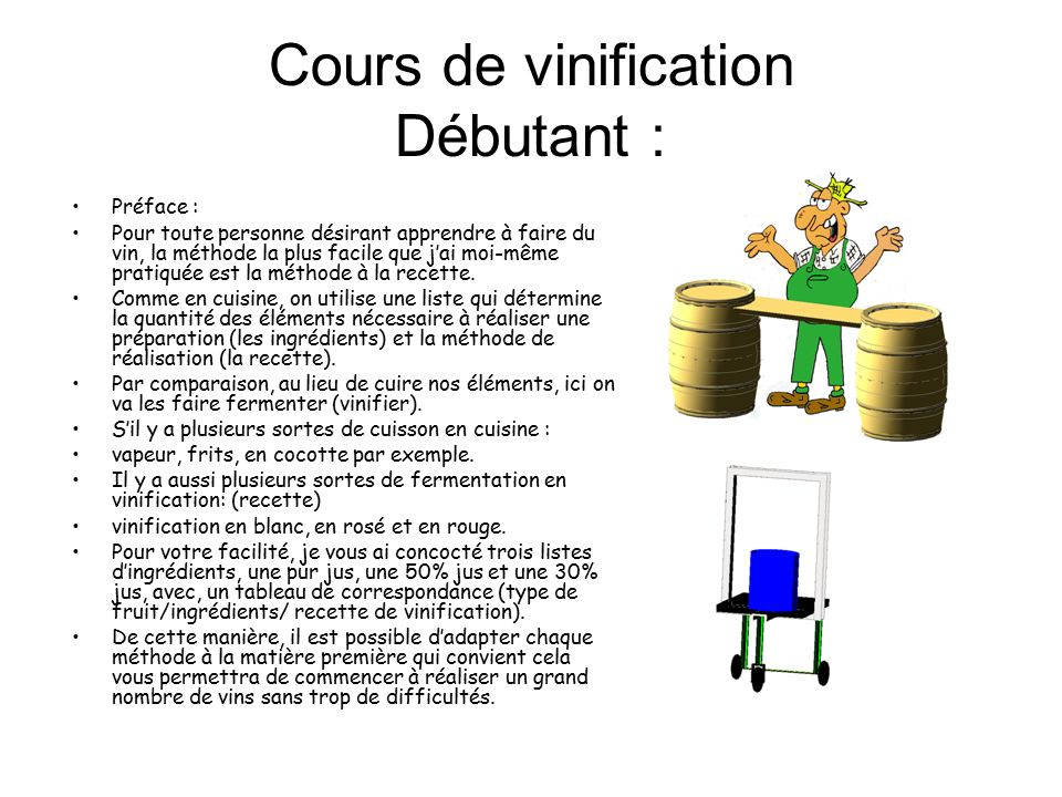 cours de vinification d butant ppt t l charger. Black Bedroom Furniture Sets. Home Design Ideas