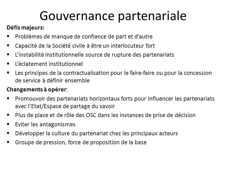 Gouvernance partenariale