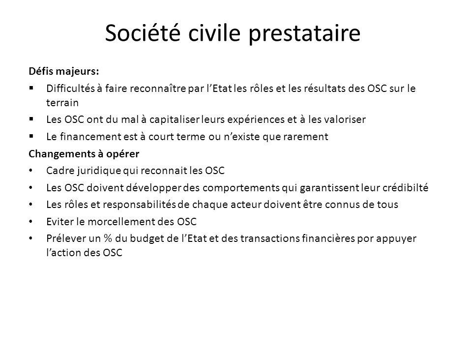 Société civile prestataire