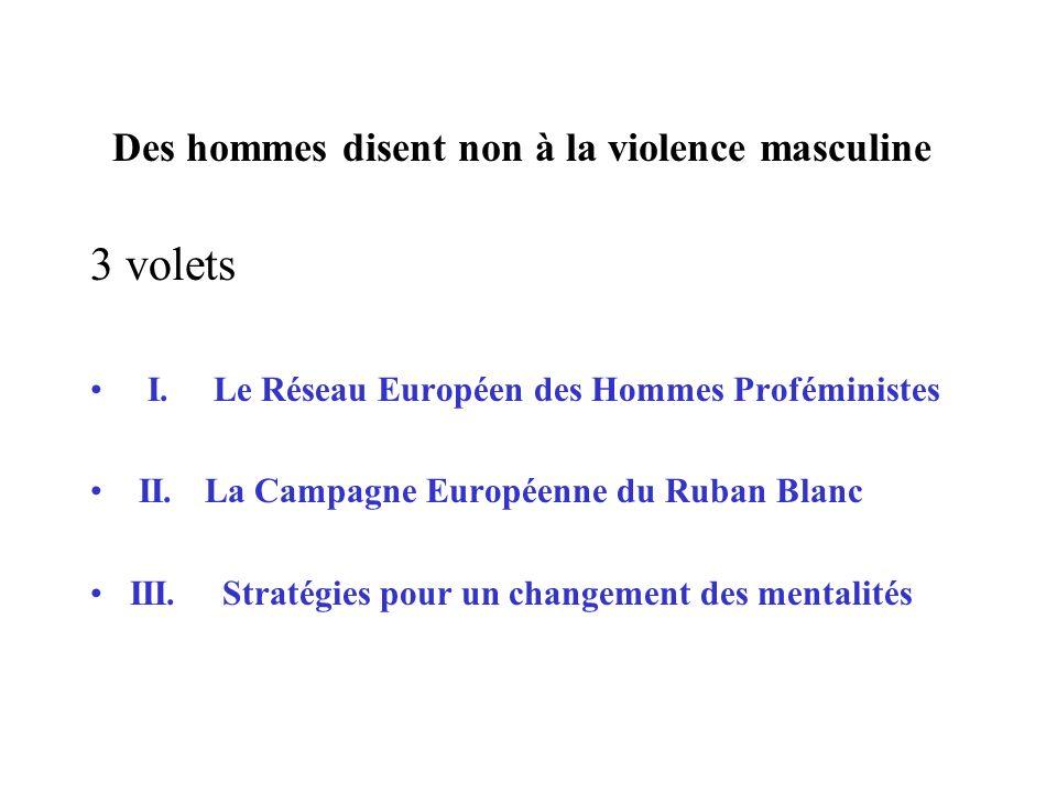 Des hommes disent non à la violence masculine