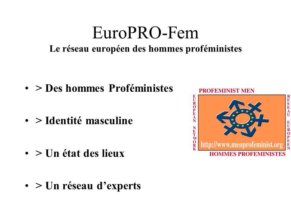 EuroPRO-Fem Le réseau européen des hommes proféministes