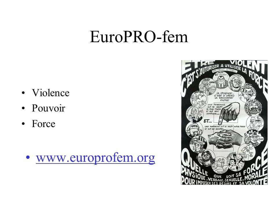 EuroPRO-fem Violence Pouvoir Force www.europrofem.org