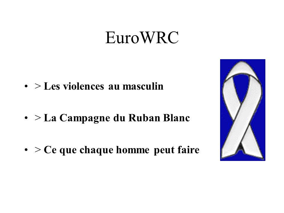 EuroWRC > Les violences au masculin > La Campagne du Ruban Blanc