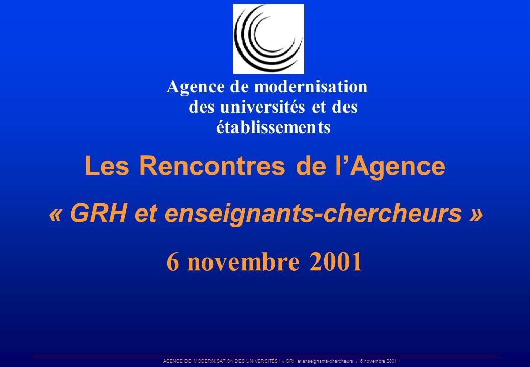 Les Rencontres de l'Agence 6 novembre 2001