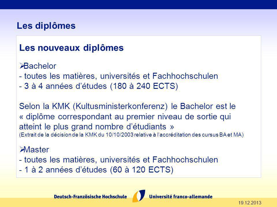 Les diplômes Les nouveaux diplômes Bachelor