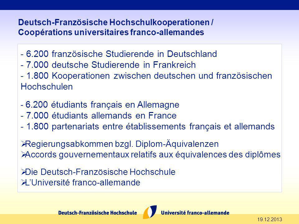 6.200 französische Studierende in Deutschland