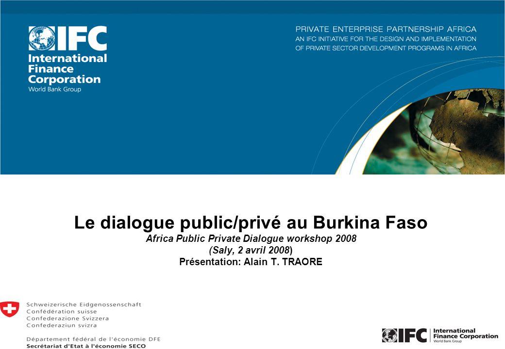 Le dialogue public/privé au Burkina Faso